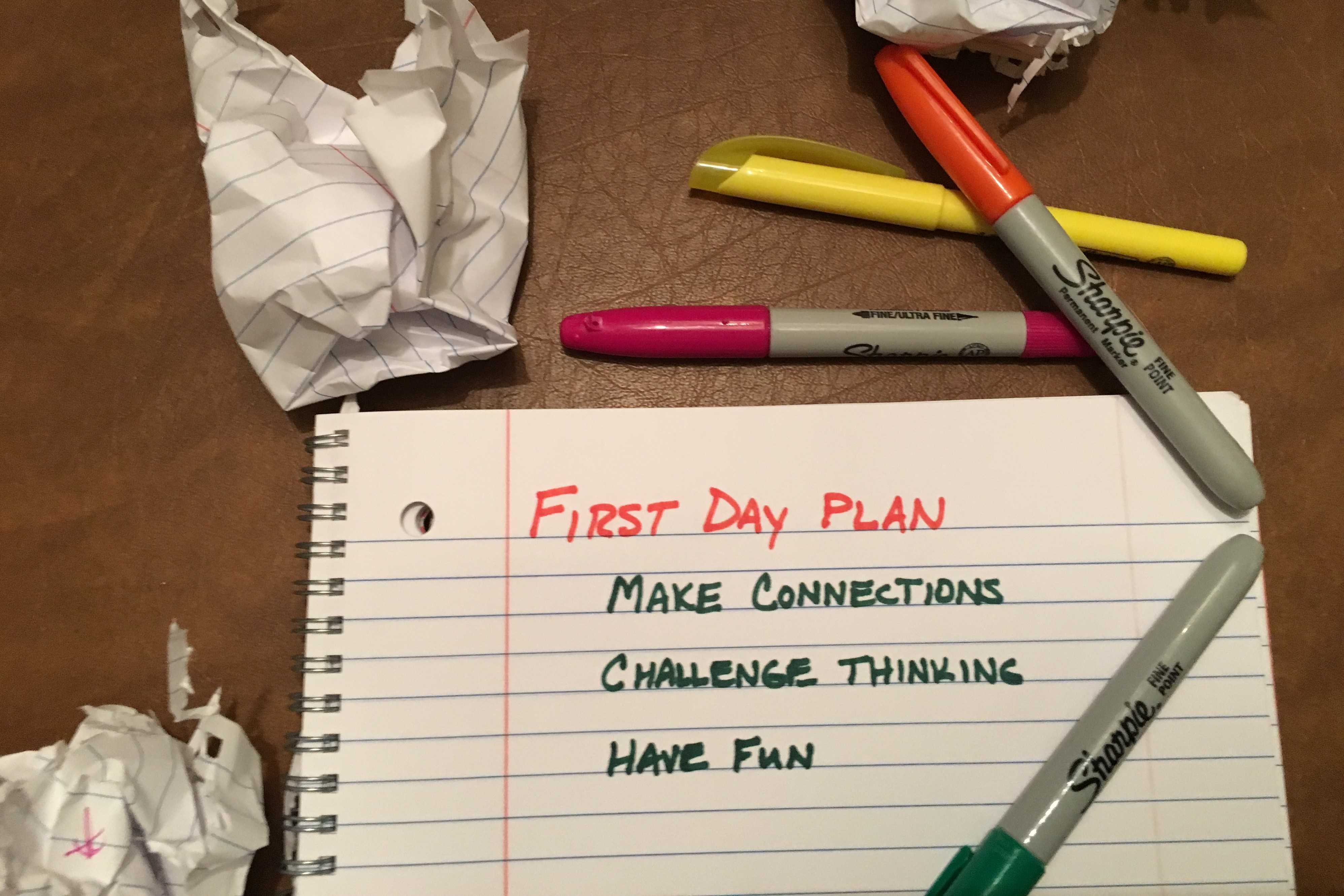 First Days: Capitalizing on the Start of School