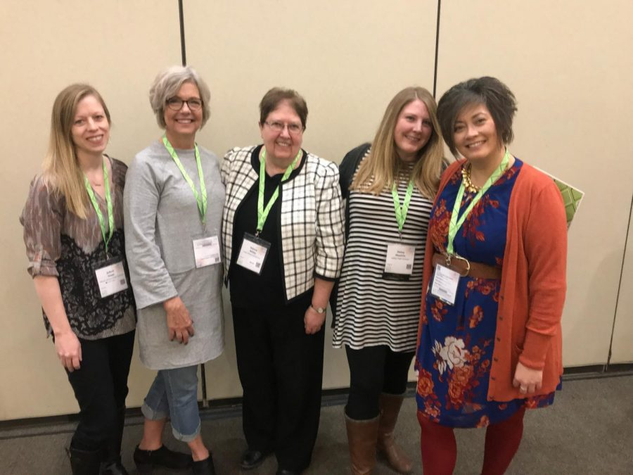 ICTE executive board members gather for a photo at the NCTE affiliate meeting at the fall conference Nov. 24.
